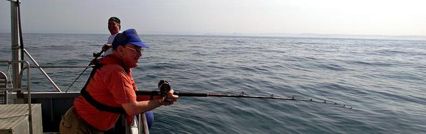 Deep sea fishing trips off the coast of Cornwall