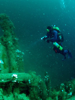 Wreck diving around Newquay