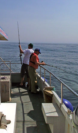 Fishing from the Atlantic Diver