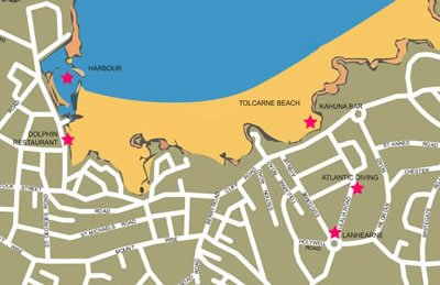 Location on Newquay map
